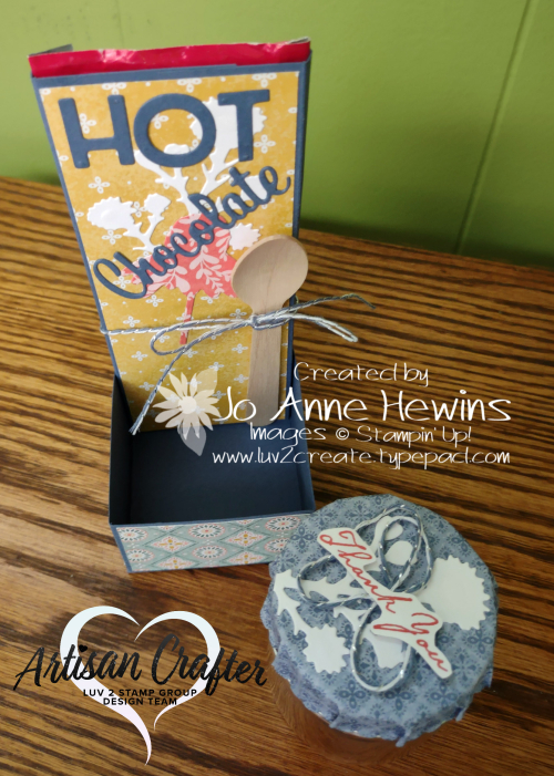 Nature's Harvest 3D Hot Chocolate Holder Made by Jo Anne Hewins