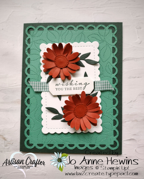 Color Fusers October Mini Daisy Punch  Scalloped Contours dies  Forever Flourishing dies  Jo Anne Hewins  Luv 2 Create