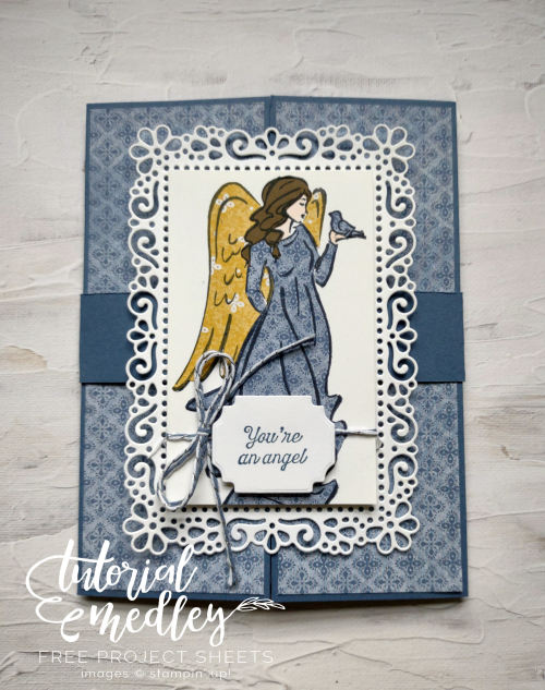 October Tutorial Medley Angels of Peace Card with Belly Band  Ornate Layers dies  Ornate Frames dies  Harvest Meadow DSP  Jo Anne Hewins