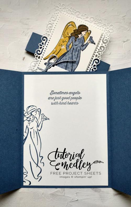 September Tutorial Medley Angels of Peace Inside of Card  Ornate Layers dies  Ornate Frames dies  Harvest Meadow DSP  Jo Anne Hewins