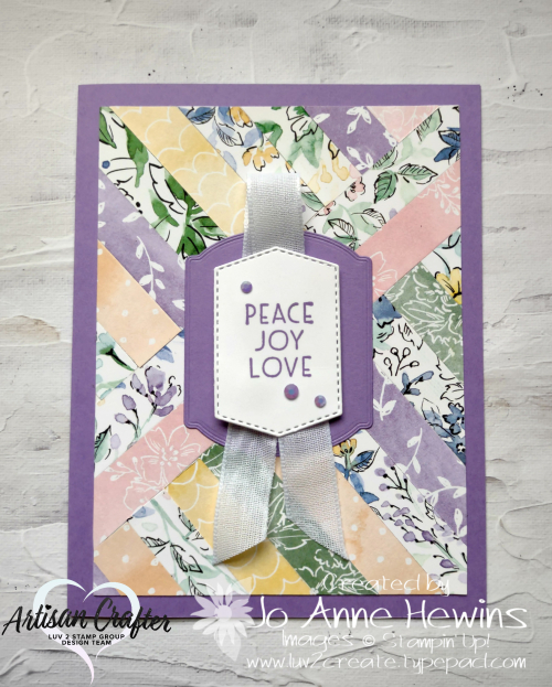Facebook Live 10.6.2021 Using scraps  Hand-Penned DSP  Tasteful labels dies  Flowers for Every Season Ribbon Combo Pack  2021-2023 In Color Jewels  Luv 2 Create  Jo Anne Hewins
