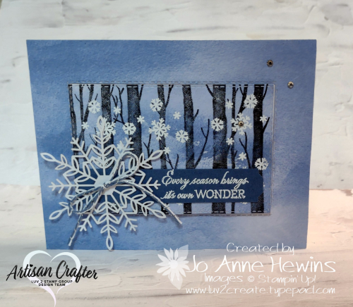 Facebook Live 10.20.2021 Welcoming Woods Cards  White Emboss  Stitched Rectangles dies  Stitched Leaves dies  Luv 2 Create  Jo Anne Hewins